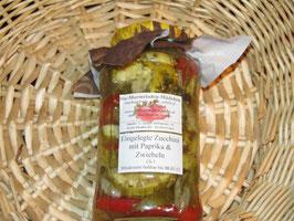 Gewürzzucchini eingelegt mit Paprika & Zwiebeln E2