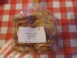Schneetaler- Gebäck gefüllt mit hauseigener Orangen Marmelade und  mit Puderzucker bestäubt  200g