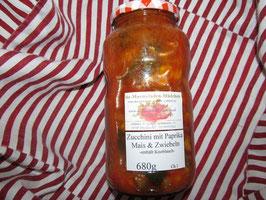 Zucchini mexikanisch mit Paprika, Knoblauch und Mais E3 Mitte Mai wieder verfügbar!