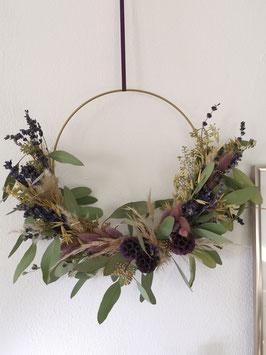 Trockenblumen Boho - Kranz Lilac