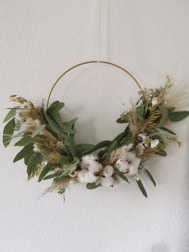 Trockenblumen Boho - Kranz Natur