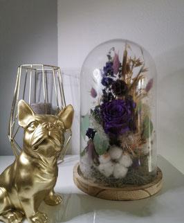 Glasglocke Lilac