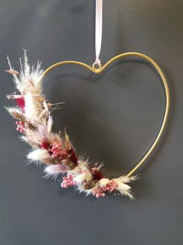 Trockenblumen Kranz Herz Nr.2