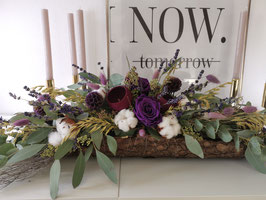 Trockenblumen Gesteck Lilac