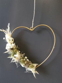 Trockenblumen Kranz Herz Nr.1