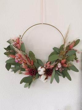 Trockenblumen Boho - Kranz Beere