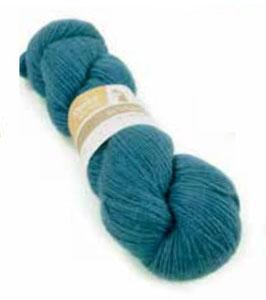 Strickwolle blau