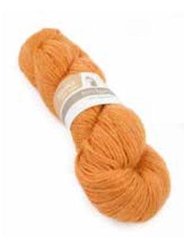 Strickwolle orange-meliert