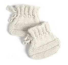 Schuhe handgestrickt für Babys
