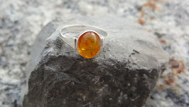 Natur-Bernstein Ring 925 Sterling Silber Nr. 2