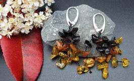 Natur-Bernstein Ohrringe 925 Sterling Silber Nr. 12