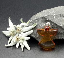 Natur-Bernstein Anhänger Engel Silber Nr. 12.0