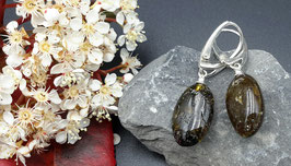 Natur-Bernstein Ohrringe 925 Sterling Silber Nr. 14