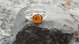 Natur-Bernstein Ring 925 Sterling Silber Nr. 1