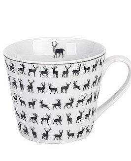Krasilnikoff Tasse mit Henkel Deers