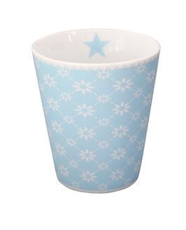 Krasilnikoff Mug hellblau diagonal