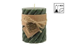 Countryfield Spiral Kerze grün