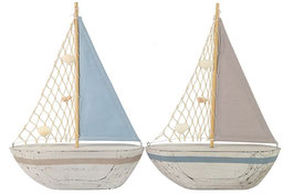 Segelboot aus Holz & Stoff Countryfield