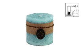 Countryfield Kerze mit Banderole türkis/mint