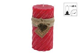 Countryfield große Spiral Kerze rot