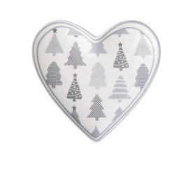 Krasilnikoff Teller Heart tray Christmas trees