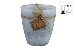 Countryfield große Outdoor Kerze grau/blau