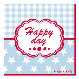 Krasilnikoff Serviette Happy Day