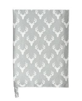 Krasilnikoff Geschirrtuch White Antlers
