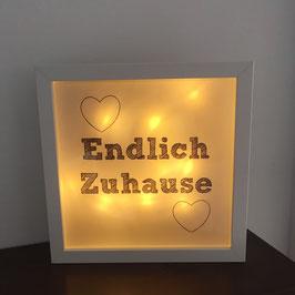 """LED Bilderrahmen """"Endlich Zuhause"""""""
