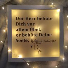 "LED Bilderrahmen ""Der Herr behüte Dich vor allem Übel"""