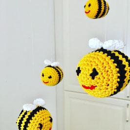 Häkelset Bienen Mobile