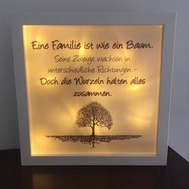 """LED Bilderrahmen """"Eine Familie ist wie ein Baum"""""""