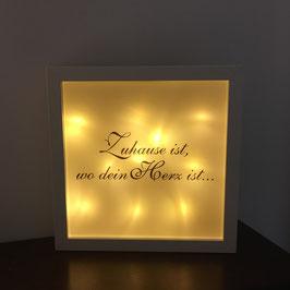 """LED Bilderrahmen """"Zuhaus ist, wo dein Herz ist"""""""