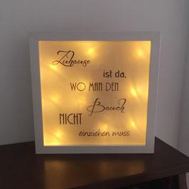 """LED Bilderrahmen """"Bauch einziehen"""""""