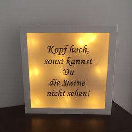 """LED Bilderrahmen """"Kopf hoch"""""""