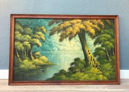 Schilderij met houten lijst
