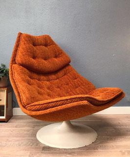 Oranje Artifort fauteuil - F587
