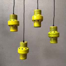 Set van 4 groene hanglampjes