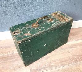 Oude houten gereedschapskist