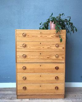 Set houten ladekastjes