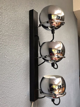 Wandlamp 3 chromen bollen