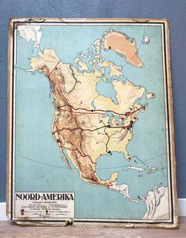 Schoolplaat Noord-Amerika