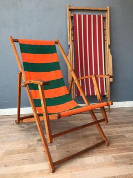 Strandstoel - oranje groen