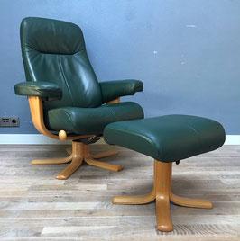 Donkergroene Noorse fauteuil