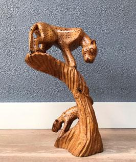 Houten cheetah beeld
