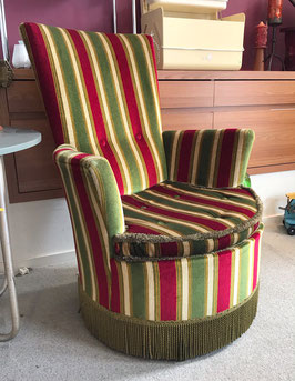 Rood groene fauteuil
