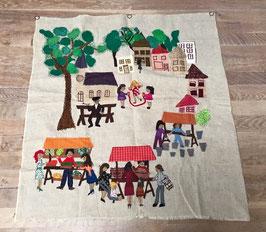 Wandkleed dorpsplein