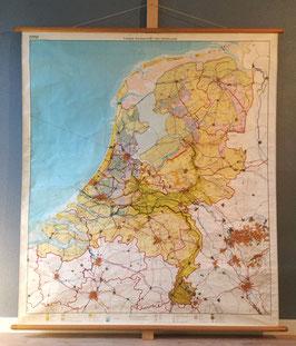 Tweede wandkaart van Nederland