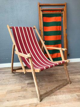 Strandstoel - rood wit