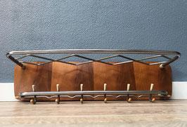 Wandkapstok - hout met chroom
